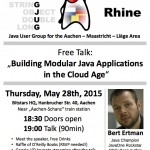 "First talk at EuregJUG Maas-Rhine: ""Building Modular Java Applications in the Cloud Age"""