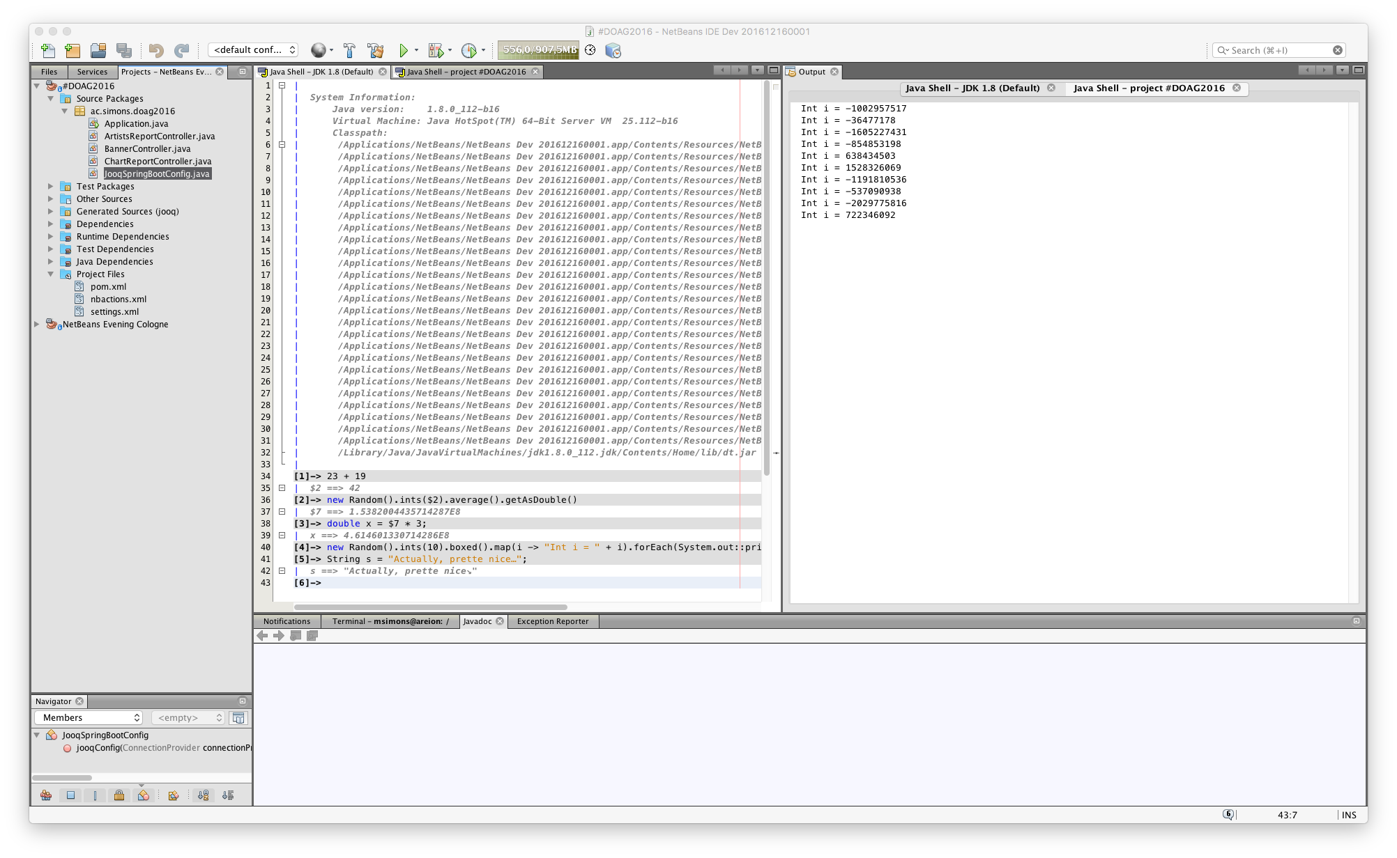 Using JShell in NetBeans – info michael-simons eu